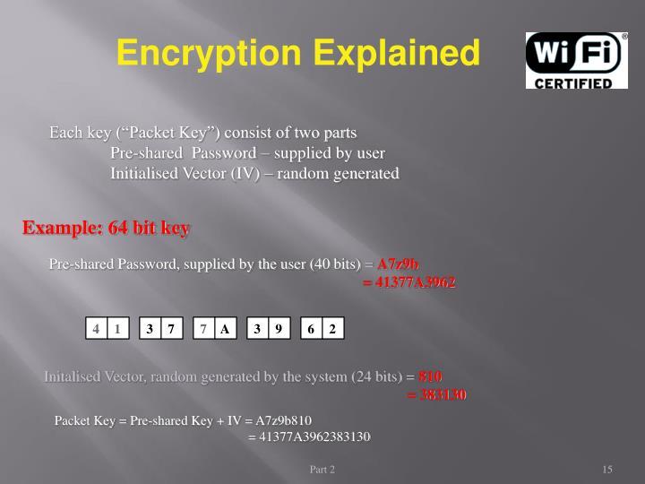Example: 64 bit key