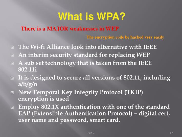 What is WPA?