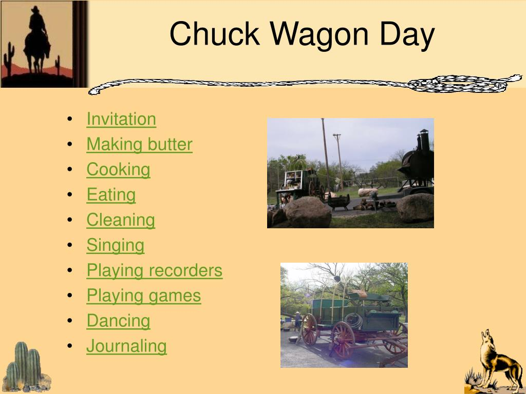 Chuck Wagon Day