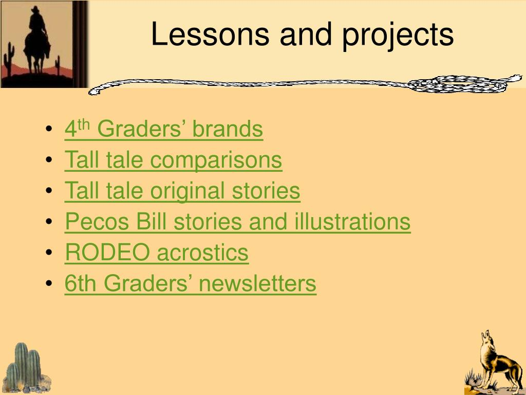 Lessons and projects