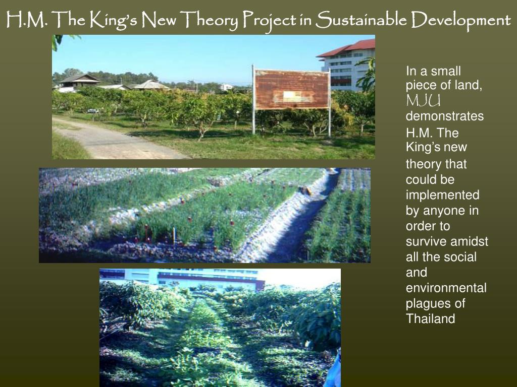 H.M. The King's New Theory Project in Sustainable Development