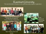 kasetsart university the very first state university to offer post secondary degree in agriculture