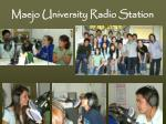 maejo university radio station