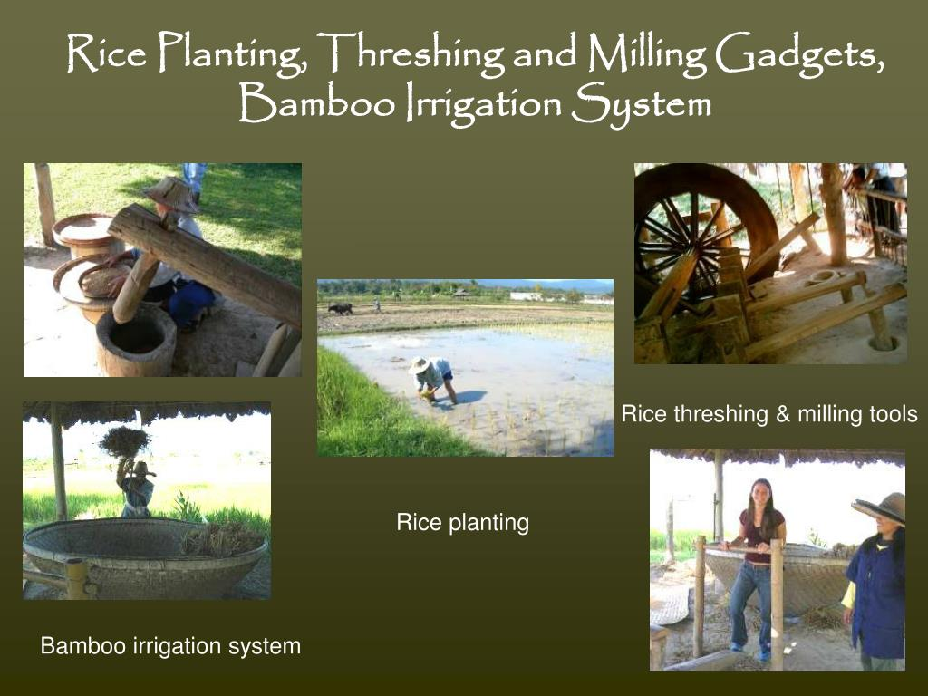 Rice Planting, Threshing and Milling Gadgets,