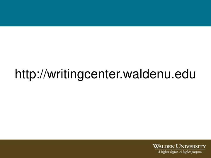 http://writingcenter.waldenu.edu