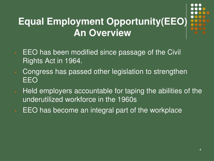 Equal Employment Opportunity(EEO)
