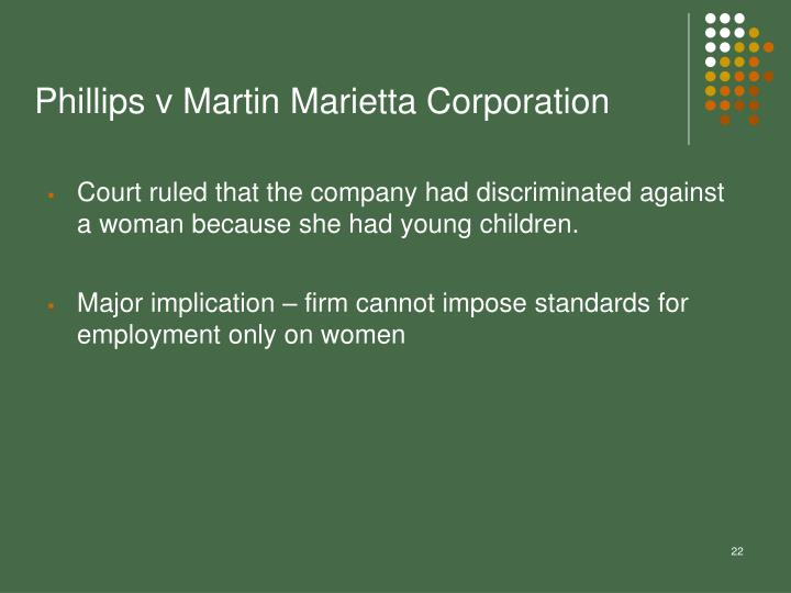 Phillips v Martin Marietta Corporation
