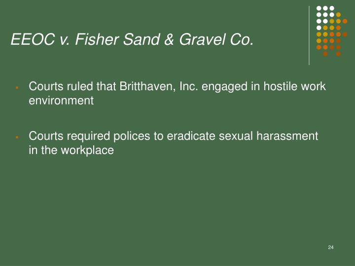 EEOC v. Fisher Sand & Gravel Co.