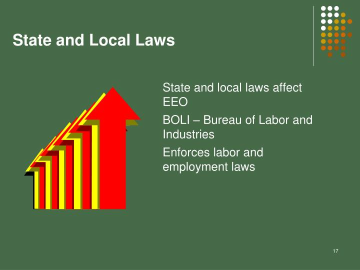 State and Local Laws
