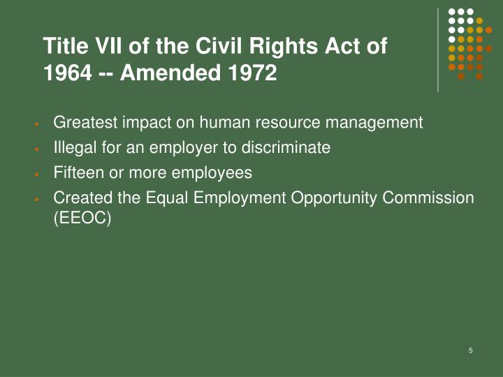 Title VII of the Civil Rights Act of