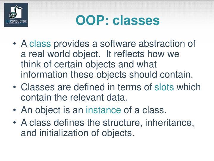 OOP: classes