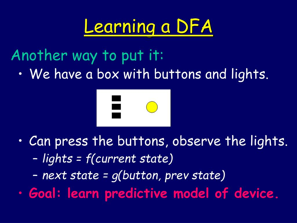Learning a DFA