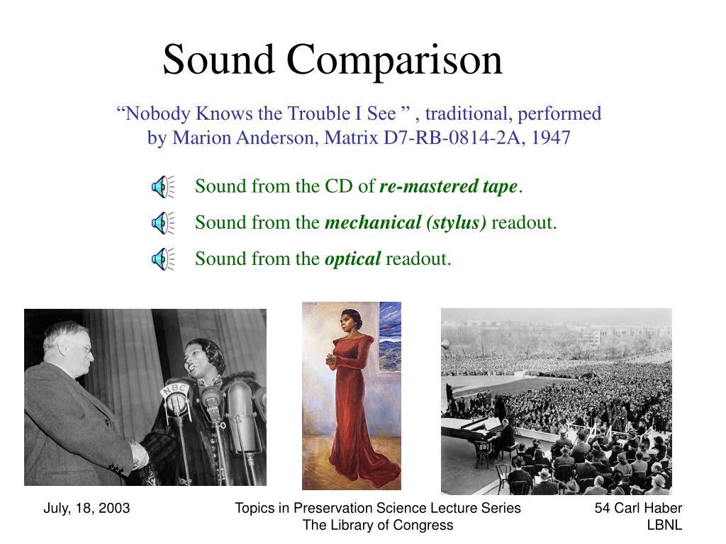Sound Comparison