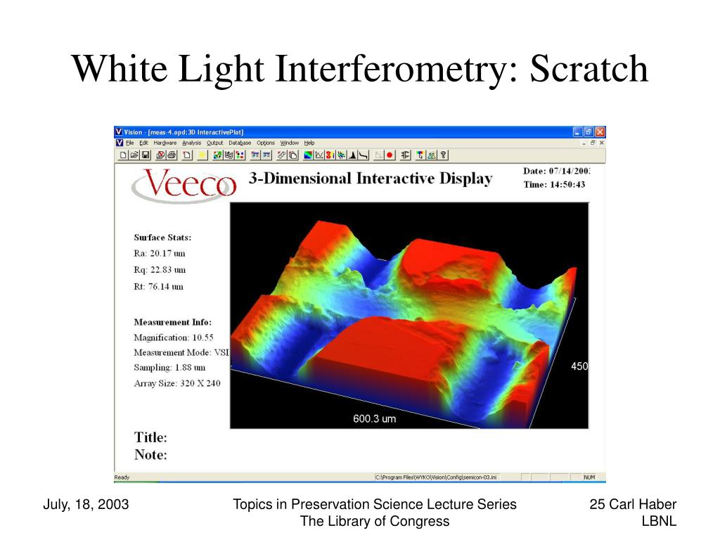 White Light Interferometry: Scratch