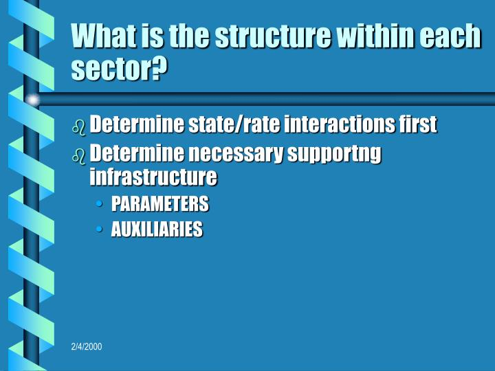 What is the structure within each sector?