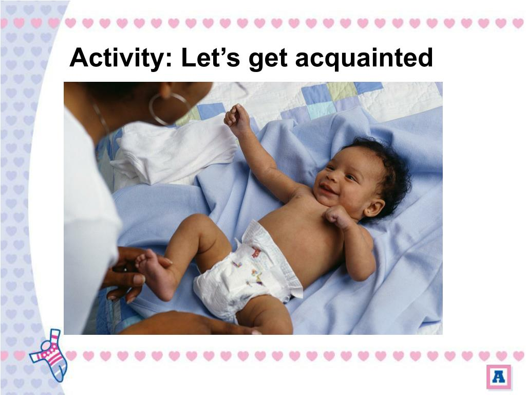 Activity: Let's get acquainted