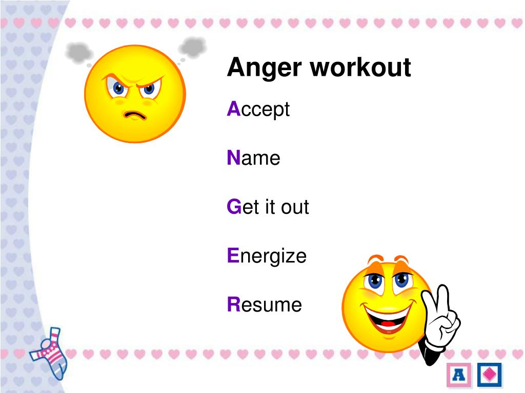 Anger workout