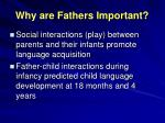 why are fathers important