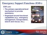 emergency support functions esfs