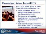 evacuation liaison team elt