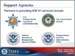 support agencies