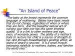 an island of peace