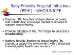 baby friendly hospital initiative tm bfhi who unicef