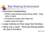 bed sharing environment