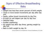 signs of effective breastfeeding baby