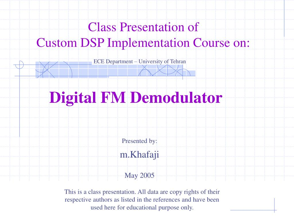 Ppt Digital Fm Demodulator Powerpoint Presentation Id835545 Frequency Demodulation N