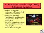 1 abandoned mine drainage amd resource extraction