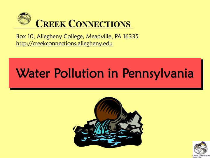 Water pollution in pennsylvania