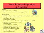 water pollution regulations prevention