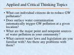 applied and critical thinking topics