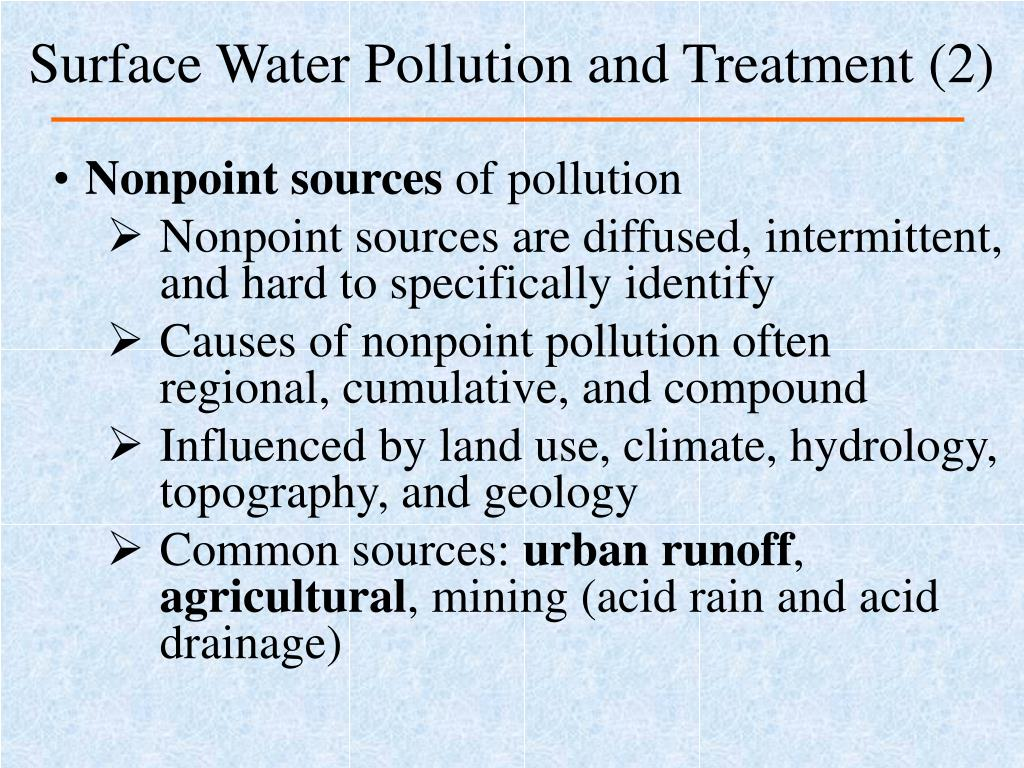 Surface Water Pollution and Treatment (2)