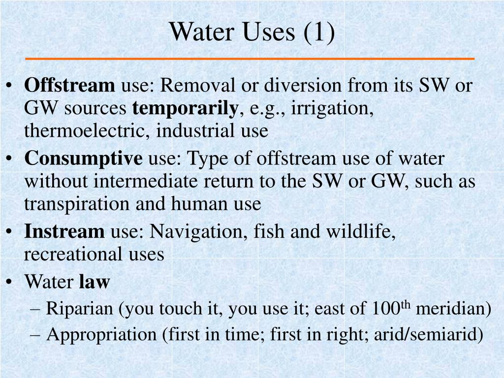 Water Uses (1)