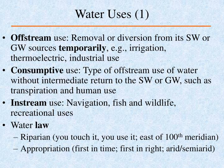 Water uses 1