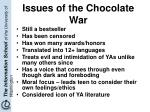 issues of the chocolate war