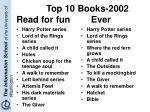 top 10 books 2002 read for fun ever