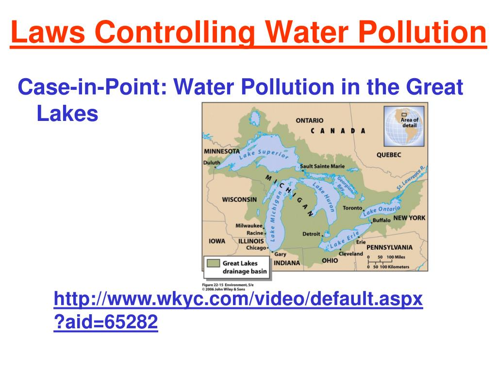 Laws Controlling Water Pollution