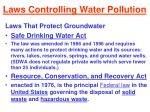 laws controlling water pollution37
