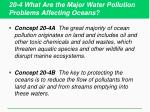 20 4 what are the major water pollution problems affecting oceans