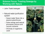 science focus treating sewage by working with nature