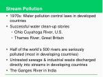 stream pollution