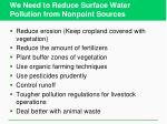 we need to reduce surface water pollution from nonpoint sources