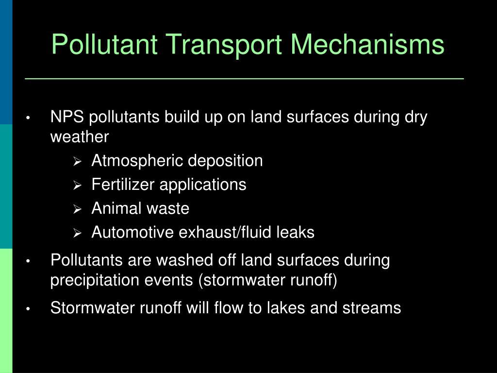 Pollutant Transport Mechanisms