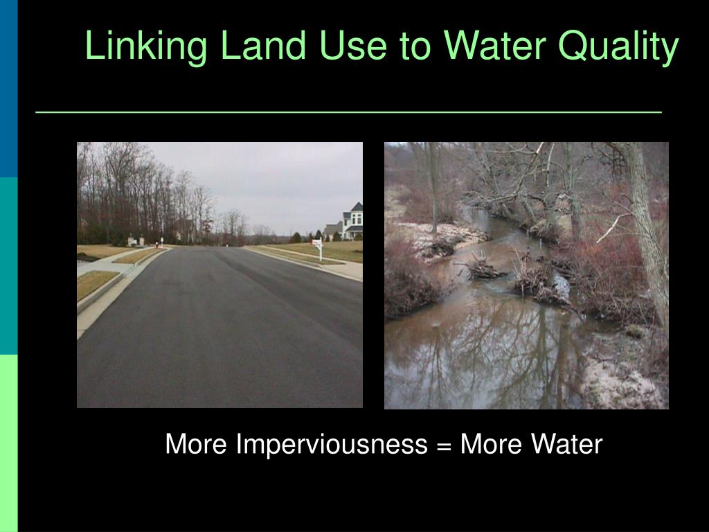 Linking Land Use to Water Quality