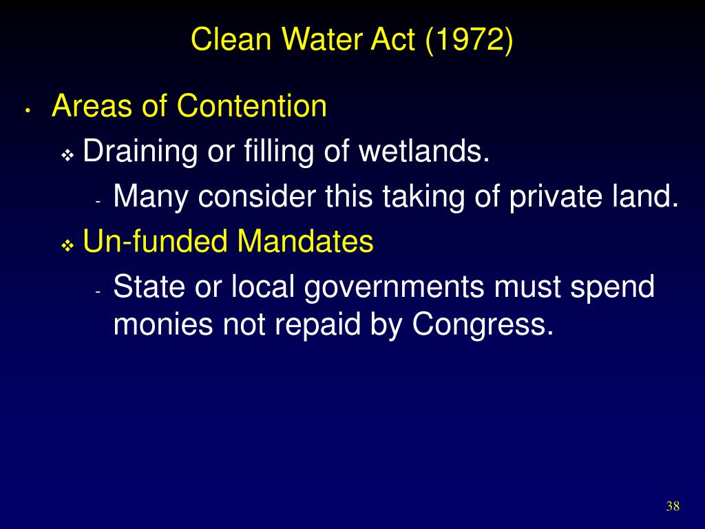 Clean Water Act (1972)