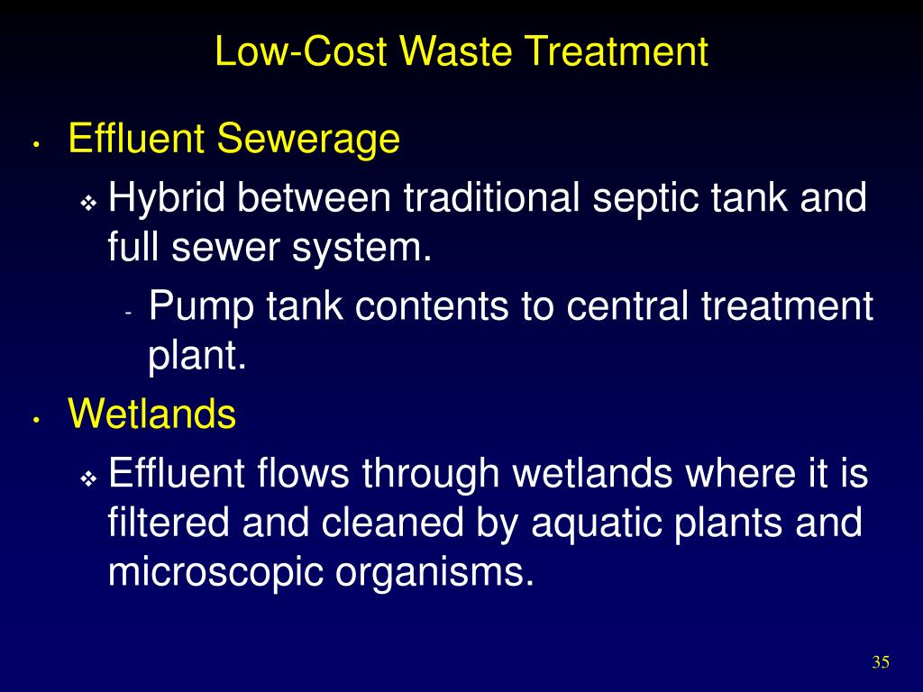 Low-Cost Waste Treatment