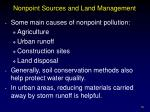 nonpoint sources and land management